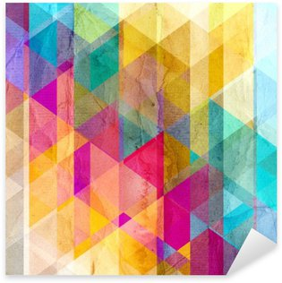 Sticker Pixerstick Aquarelle fond géométrique avec des triangles