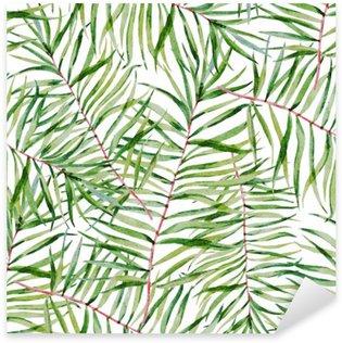 Sticker Pixerstick Aquarelle leafs tropicales motif