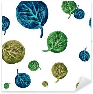Sticker Pixerstick Aquarelle pattern avec des feuilles d'automne.