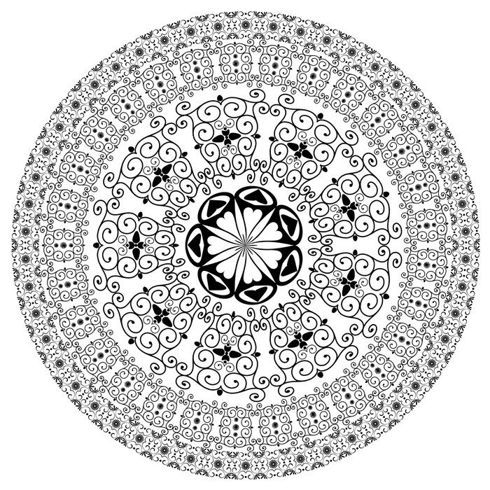 Pixerstick for All Surfaces arabesque pattern round - Wall decals