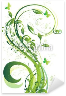 Sticker - Pixerstick arabesque verte