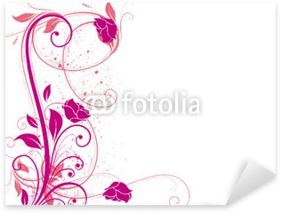 Sticker - Pixerstick arabesques roses