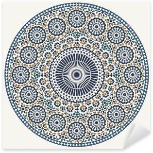 Arabic circular pattern Sticker - Pixerstick