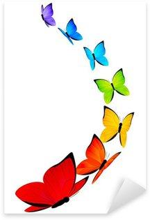 Sticker Pixerstick Arc-en-papillons frontière pour votre conception