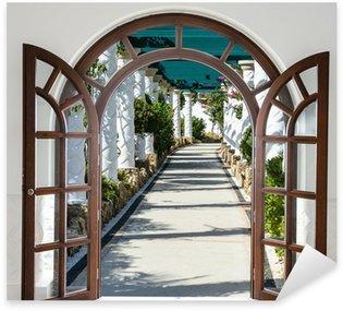 Sticker Pixerstick Arche de la porte ouverte avec accès à la ruelle