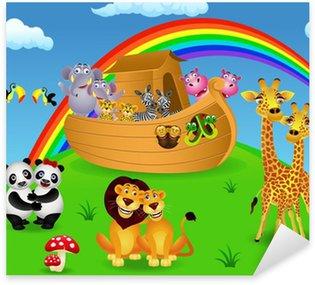 Sticker Pixerstick Arche de Noé avec les animaux