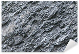 Sticker Pixerstick Ardoise, la pierre naturelle, les dépôts de roche, mur de pierre
