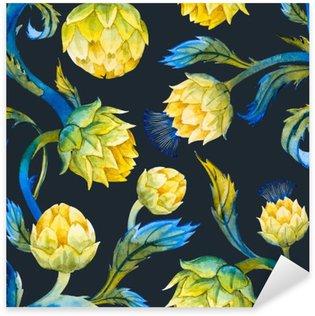 Sticker Pixerstick Art Aquarelle motif nouveau d'artichaut