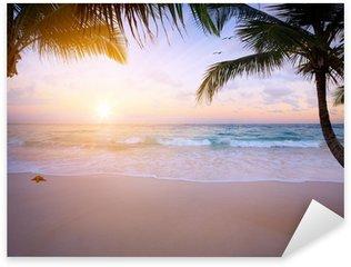Art Beautiful sunrise over the tropical beach Sticker - Pixerstick