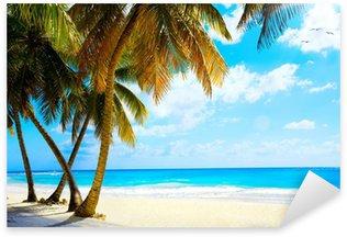 Sticker - Pixerstick Art beautiful untouched tropical sea beach