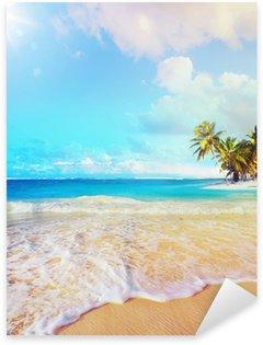Sticker - Pixerstick Art Summer vacation ocean beach