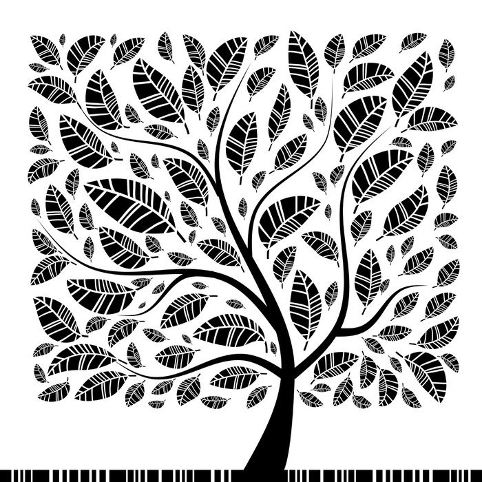 Sticker - Pixerstick Art tree beautiful for your design - Themes