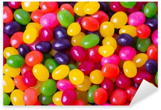 Assortment of Jelly Beans for background Sticker - Pixerstick