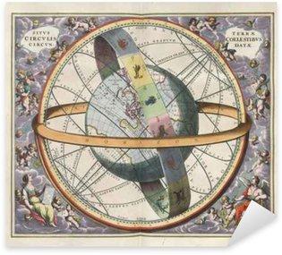 Astronomical chart, Vintage Sticker - Pixerstick