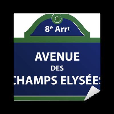 avenue des champs elys es sticker pixers we live to change. Black Bedroom Furniture Sets. Home Design Ideas