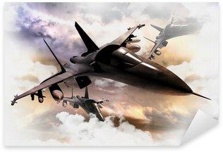 Sticker Pixerstick Avions de combat en action