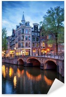 Pixerstick Sticker Avond in Amsterdam