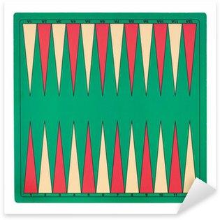 Sticker Pixerstick Backgammon jeu