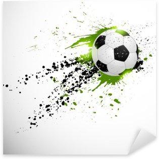 Sticker Pixerstick Ballon de football en vol