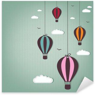 Sticker Pixerstick Balloons hot air
