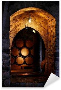 Sticker Pixerstick Baril de vin dans winerry.
