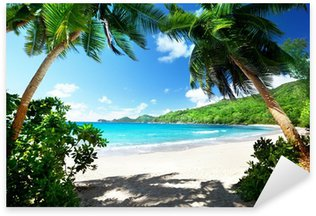 Sticker - Pixerstick beach, Mahe island, Seychelles