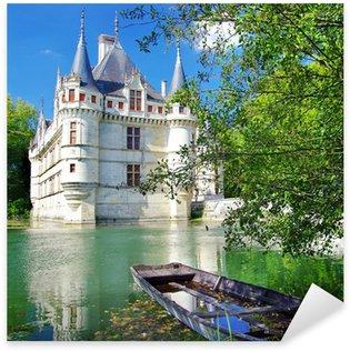 Sticker Pixerstick Beau château Azey-le-redeau
