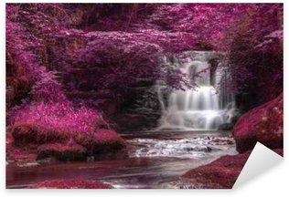 Beautiful alternate colored surreal waterfall landscape Sticker - Pixerstick