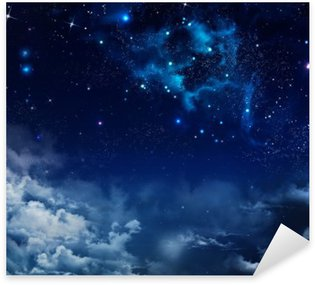 Sticker - Pixerstick beautiful background of the night sky with stars