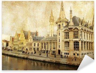 Sticker Pixerstick Belgique - Gent - Photo de style rétro