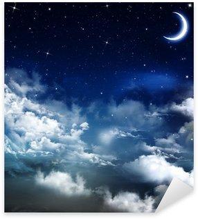Sticker Pixerstick Belle arrière-plan, ciel nocturne