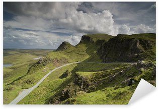 Sticker Pixerstick Belle chaîne de montagnes de Quiraing en île de Skye, en Ecosse