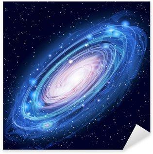 Sticker Pixerstick Belle Glowing Vector galaxie d'Andromède