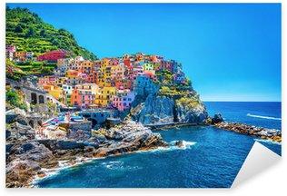Sticker Pixerstick Belle paysage urbain coloré