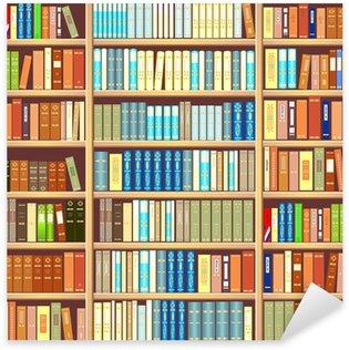 Sticker Pixerstick Bibliothèque pleine de livres