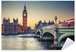 Sticker Pixerstick Big Ben et les maisons du Parlement, Londres