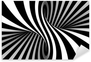 Black and white abstract Sticker - Pixerstick