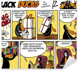 Sticker Pixerstick Black Ducks Comics episode 74