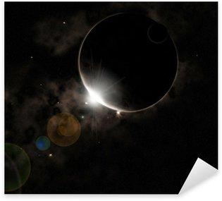 Black Planet Sticker - Pixerstick
