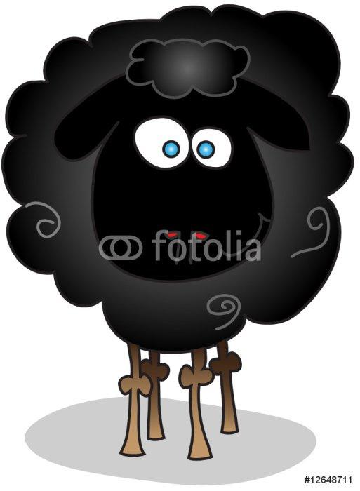 Sticker - Pixerstick black sheep isolated - Mammals