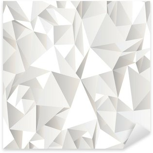 Sticker Pixerstick Blanc froissé fond abstrait