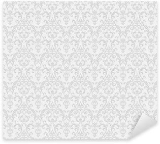 Sticker Pixerstick Blanc motif de papier peint floral