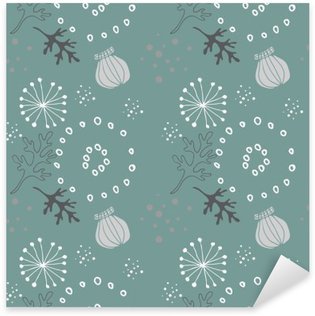 Pixerstick Sticker Blauw bloemenpatroon