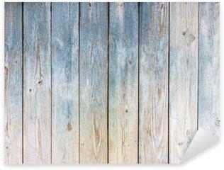 Pixerstick Sticker Blauwe vintage houten achtergrond
