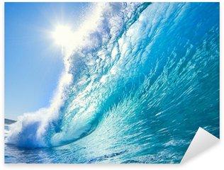 Sticker Pixerstick Bleu Ocean Wave