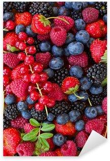 Sticker Pixerstick Bluberry, framboise, mûre et rouge currrunt