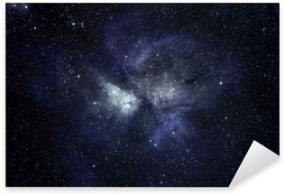 Blue space background Sticker - Pixerstick