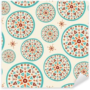 Pixerstick Sticker Boho patroon met handgemaakte indian art design