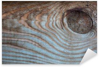Sticker Pixerstick Bois vieux fond multicolore rustique, point sur une planche de bois