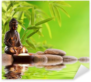 Sticker Pixerstick Bouddha zen